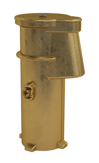 6 Inch Brass Anchor Socket with Cap