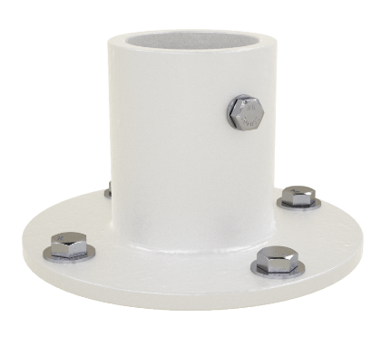 1.9 Inch Aluminum Flange with Hardware